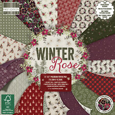 Winter Rose - 6x6 Paper Pad - 48 Sheets - First Edition - Christmas