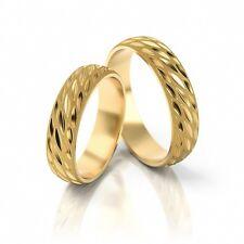 1 Paar Trauringe Eheringe 333, 585 oder 750 Gold massiv, Top Design nur bei uns!