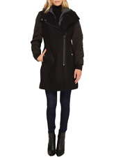 Marc New York By Andrew Marc Womens Black Rowan Pressed Wool Coat Sz 4 3730
