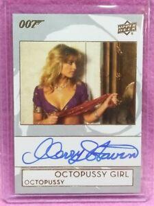 2019 U.D. JAMES BOND 007 OCTOPUSSY GIRL MARY STAVIN AUTOGRAPH SP CARD