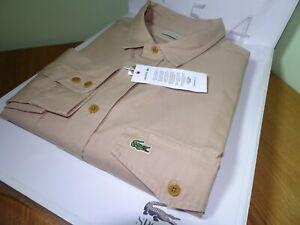Lacoste Herren Langarm Regular Fit Shirt FR 46 2 XLarge UVP: £ 100