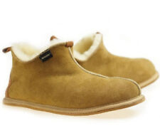 Leather Toscana Slippers Men's, Sheepskin Moccasins 100% Wool slippers