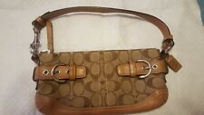 New ListingCoach Classic Monogram Mini Shoulder Bag Leather tan & silver M050-5107 used