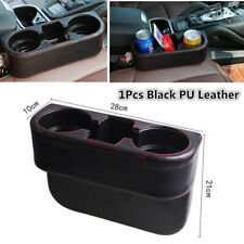 Leather Car Seat Seam Wedge Cup Holder Food Drink Bottle Mount Storage Organizer