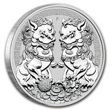 Perth Mint Double Pixiu Drachen 2020 1 oz 999 Silbermünze in Kapsel Feinsilber