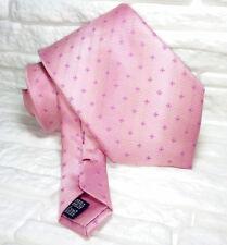 Cravatta rosa pois TOP Quality NOVITÀ Made in Italy handmade cuciture rosse