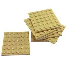7 NEW LEGO Plate 6 x 6 BRICKS Tan