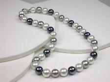 925 Silber Orquidea Collier mit Mallorca-Perlen,  45 cm Hochzeit (46035)