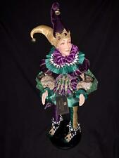 Katherine's Collection - Mardi Gras Jester Doll 24� Christmas - 28-828101