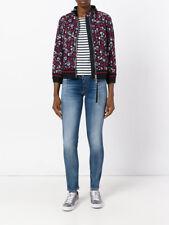 NEW $1355 MONCLER Women Fiadone Floral Lace Bomber Jacket Windbreaker, Size 2