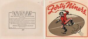 SAN FRANCISCO 49ERS 1950S ORIGINAL DECALS (L@@K!)