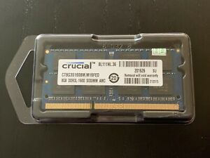 CRUCIAL RAM SODIMM 8GB PC3L 12800S DDR3L 1600MHz UK seller