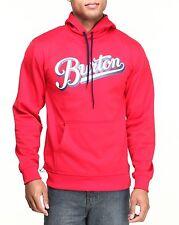 New Burton Crown Bonded Tech hoodie Cardinal RED Men's Large L LG Sweatshirt NWT