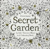Secret Garden By Johanna Basford Treasure Hunt And Colouring Book