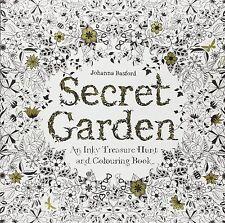 Secret Garden de Johanna Basford (Treasure Hunt Y LIBRO PARA COLOREAR)