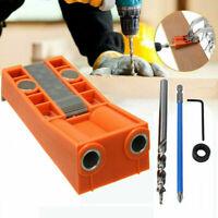 5pcs/set Mini Pocket Hole Jig Kit W/ Step Drill Bit Style Woodworking Joint Tool