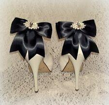 Bridal shoe clips,Black,Crystal, Rhinestone Shoe Clips, Wedding Shoe Clips, New