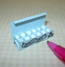 "Miniature BLUE Egg Carton w/White Bead ""Eggs"": DOLLHOUSE 1/12 Scale"