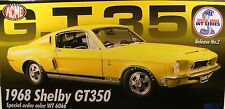 ACME DIECAST METAL 1:18 SCALE WT6066 YELLOW 1968 FORD SHELBY GT350 MUSTANG