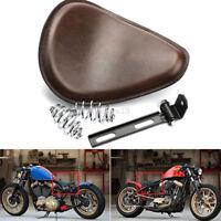 """Motorrad Sattel Solo Sitz Braun 3"""" Sitzfeder für Harley Davidson Chopper Bobber"""