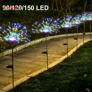 2/4/6/8/10PCS 150/120/90 LED Solar Firework Lights Garden Path Fairy String Lamp