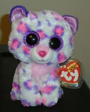 Ty Beanie Boos - SERENA the Snow Leopard (6 Inch)(Justice Exclusive) NEW MWMT