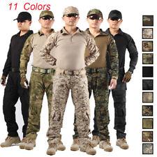 Mens Multicam Tactical Combat Airsoft Frog Suit Set Shirt Pants Military Uniform