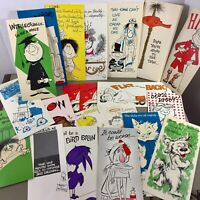Lot of 17 vintage greeting cards Studio Design humorous funny 60s 70s with box