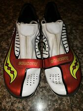 SAUCONY running sprint spike shoes RED 11.5