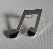 Metal Enamel Pin Badge Brooch Musical Notes Chrome Musician Musical Music Player