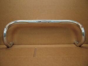 "New-Old-Stock Cinelli ""Nerve"" Bars (44cm/26.0mm) w/Anatomic Bends...Shiny Silver"