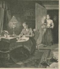 Weihnachten: Einsame Weihnachten. Holzstich von 1894