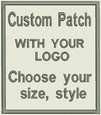 "Custom Embroidered Patch, badge 2 ""x 1"" with your logo or image"