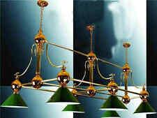 Lustre billard Table salle à manger cuivre Fixation Lampe Abat-jour Chandelier