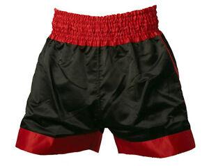 """THAIBOX-HOSE Ju-Sports, THAIBOXHOSE, Modell """"Uni"""" schwarz mit rotem Rahmen"""