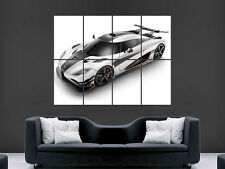 KOENIGSEGG ONE SUPERCAR FAST  ART WALL PICTURE POSTER IMAGE  GIANT !!