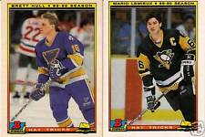 NICE 90-91 Bowman Hockey Cards Complete Set 286 Cards