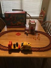 Fisher Price Lift And Load Railroad Original Box #943 Nearly Complete