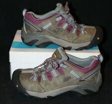 KEEN Women Flint Low Magnet Grey/Rose Skateboard Work Shoes Sz 9.5 Wood Cutting