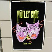 VINTAGE RARE 1985 MOTLEY CREW BLACK LIGHT FLOCKED FUNKY ENTERPRISE AD POSTER