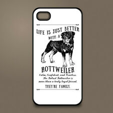 Rottweiler dog phone case cover Apple iPhone Samsung Galaxy ~ Personalised