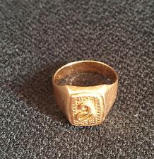 Chevalière en or 18 carats