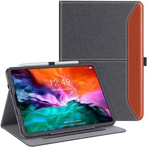 Coque pour iPad Pro 12.9 2020 4e génération Housse Cuir iPad Pencil Noir