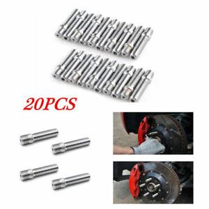 20PCS 58mm Rim Wheel Conversion Converter Adapter Bolts Studs 14x1.25~12x1.5