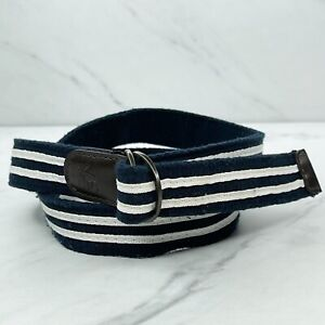 Abercrombie & Fitch Blue Skinny Striped Web Belt Size Small S