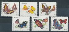 Mint Never Hinged/MNH Butterflies Zimbabwe Stamps (1965-Now)