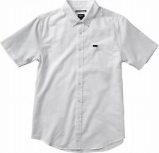 RVCA NEW White Mens Size Large L Button Down Chest Pocket Shirt $49- #331