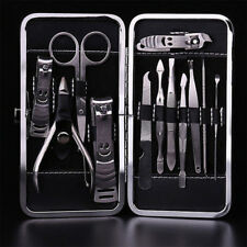 Men Women Manicure Pedicure Set Finger Toe Nail Clippers Scissors Grooming Kit