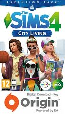 THE SIMS 4 CITY LIVING EXPANSION PACK PC AND MAC ORIGIN KEY