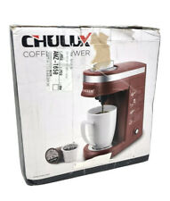 Single Serve Coffee Maker Small 1 Cup CHULUX Brewer Red